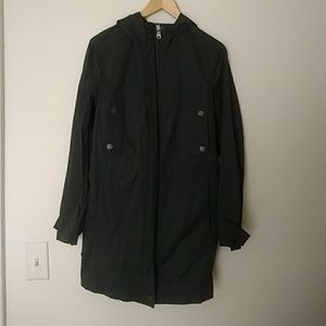 Worn Once American Eagle Olive Hooded Army Anorak